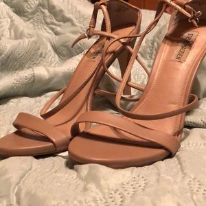 Nude Steve Madden Strappy Heels